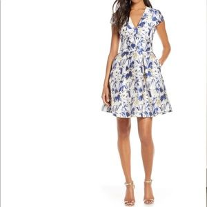 VINCE CAMUTO Floral Jacquard Fit & Flare Skirt 8P
